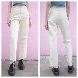 Brandy Melville beige Ariana painter pants